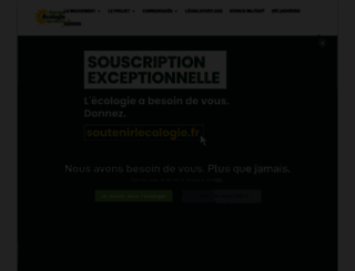 eelv.fr screenshot