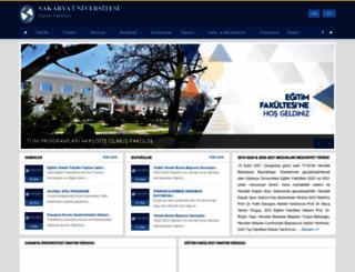 ef.sakarya.edu.tr screenshot