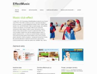 effectmusic.cz screenshot