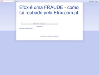 efoxfraude.blogspot.com screenshot