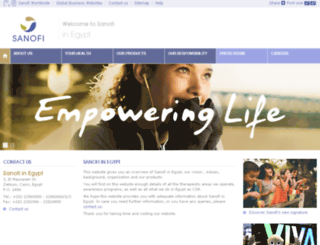eg.sanofi-aventis.com screenshot