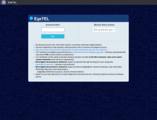 egetel.ege.edu.tr screenshot