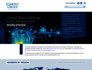 egmontgroup.org screenshot