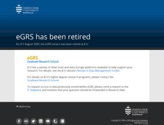 egrs.jcu.edu.au screenshot