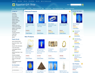 egyptiangiftshop.us screenshot