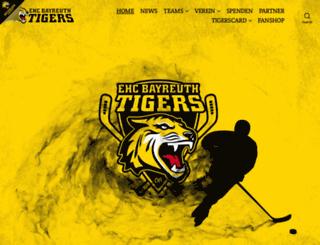 ehc-bayreuth.de screenshot