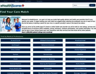 ehealthscores.com screenshot