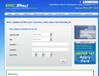 ehiccarddirect.org screenshot