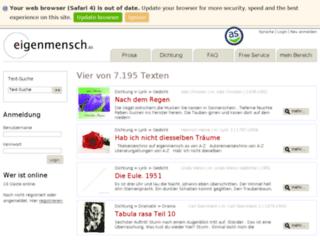 eigenmensch.as screenshot