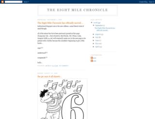 eightmilechronicle.blogspot.com screenshot
