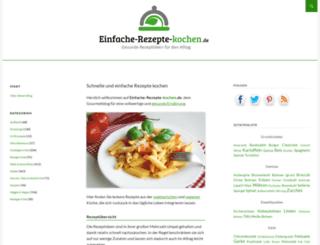einfache-rezepte-kochen.de screenshot