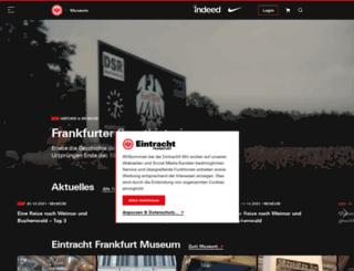 eintracht-museum.de screenshot