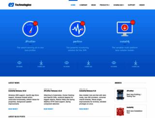 ej-technologies.com screenshot