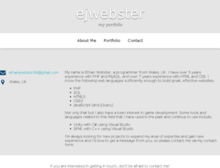 ejwebster.com screenshot