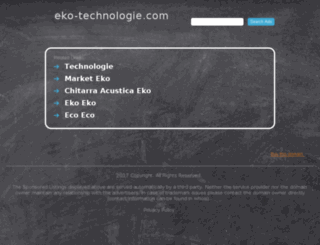 eko-technologie.com screenshot