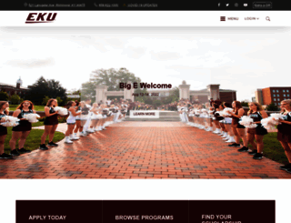 eku.edu screenshot