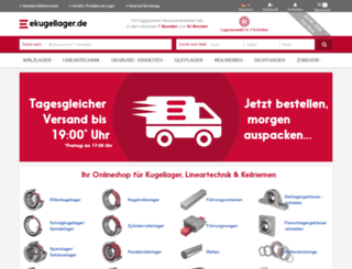 ekugellager.de screenshot