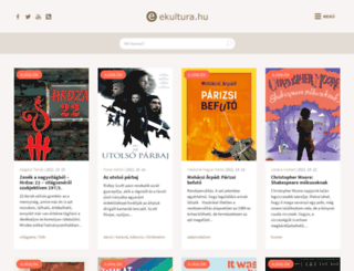 ekultura.hu screenshot