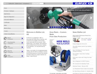 elaflex.co.uk screenshot