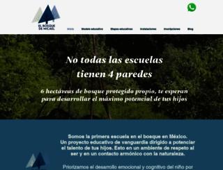 elbosquedemicael.com.mx screenshot