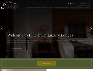 elderburnlodges.co.uk screenshot