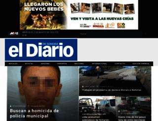 eldiariodesonora.com.mx screenshot