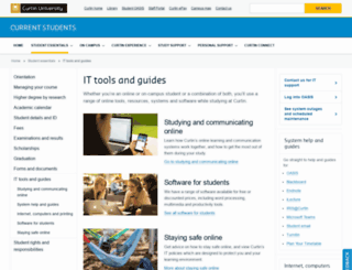 elearn.curtin.edu.au screenshot
