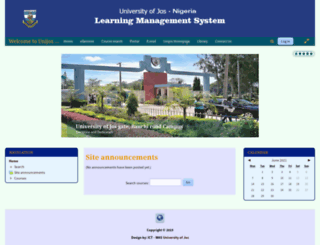 elearn.unijos.edu.ng screenshot