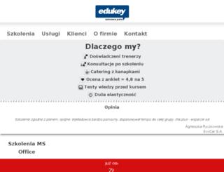 elearning.edukey.pl screenshot
