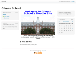 Access elearning.gilman.edu. Gilman School