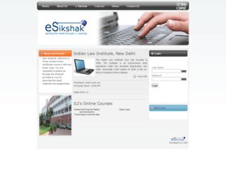 elearningilidelhi.org screenshot