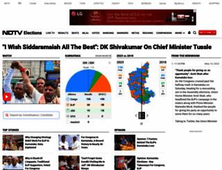 elections.ndtv.com screenshot