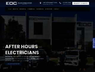 electriciansoncall.com.au screenshot
