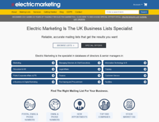 electricmarketing.co.uk screenshot