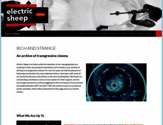 electricsheepmagazine.co.uk screenshot