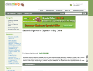 electroniccigarettes2buy.co.uk screenshot