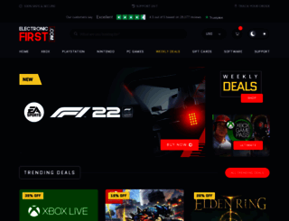 electronicfirst.com screenshot