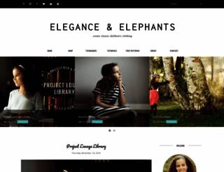eleganceandelephants.com screenshot
