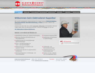 elektrodienst-rappsilber.de screenshot