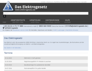 elektrogesetz.de screenshot