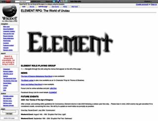 elementrpg.wikidot.com screenshot