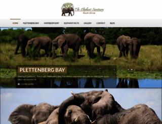 elephantsanctuary.co.za screenshot