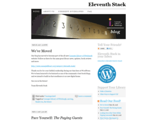 eleventhstack.wordpress.com screenshot