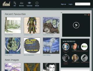 elfwood.com screenshot