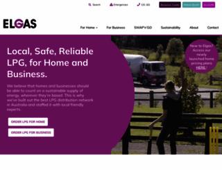 elgas.com.au screenshot