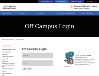 elibrary.mdanderson.org screenshot
