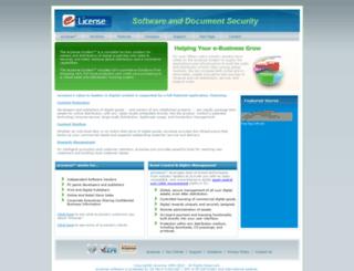 elicense.com screenshot