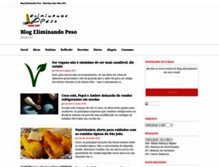 eliminandopeso.com.br screenshot