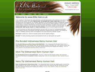 elite-hair.co.uk screenshot