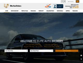 eliteautobrokers.net screenshot